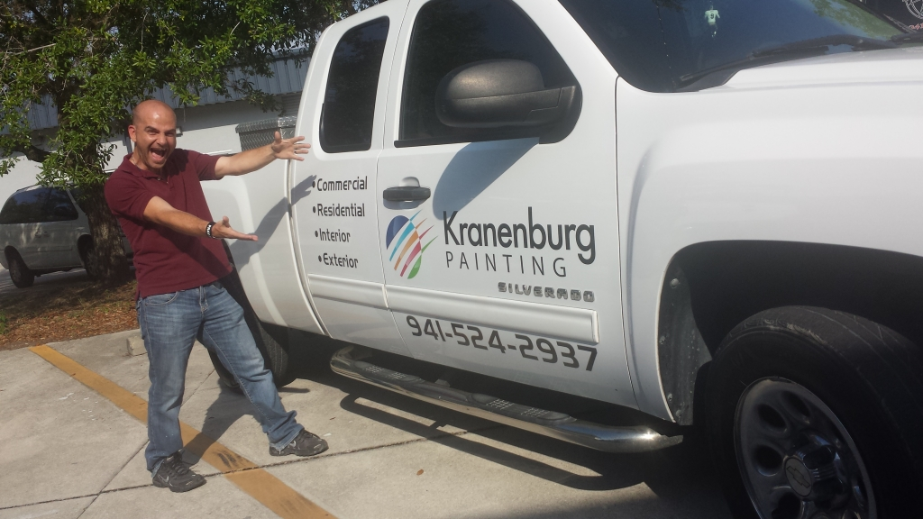 Kranenburg Painting with Owner
