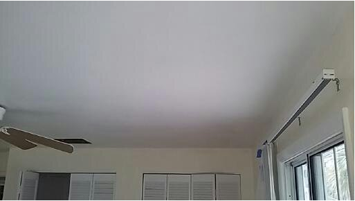 Popcorn Ceiling Removal - Prime the ceiling